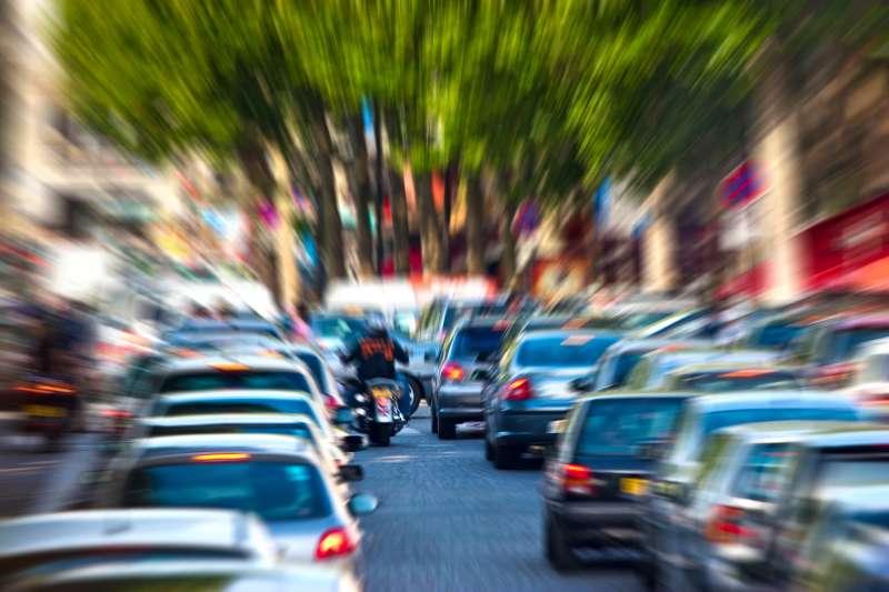 blurry traffic