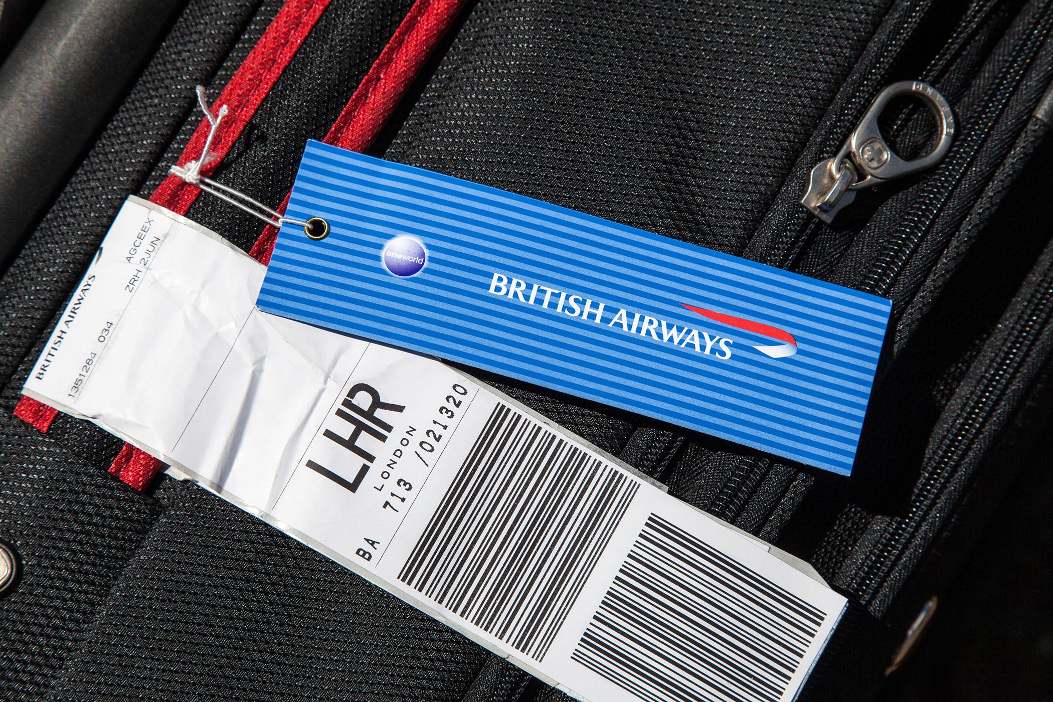British Airways luggage tag