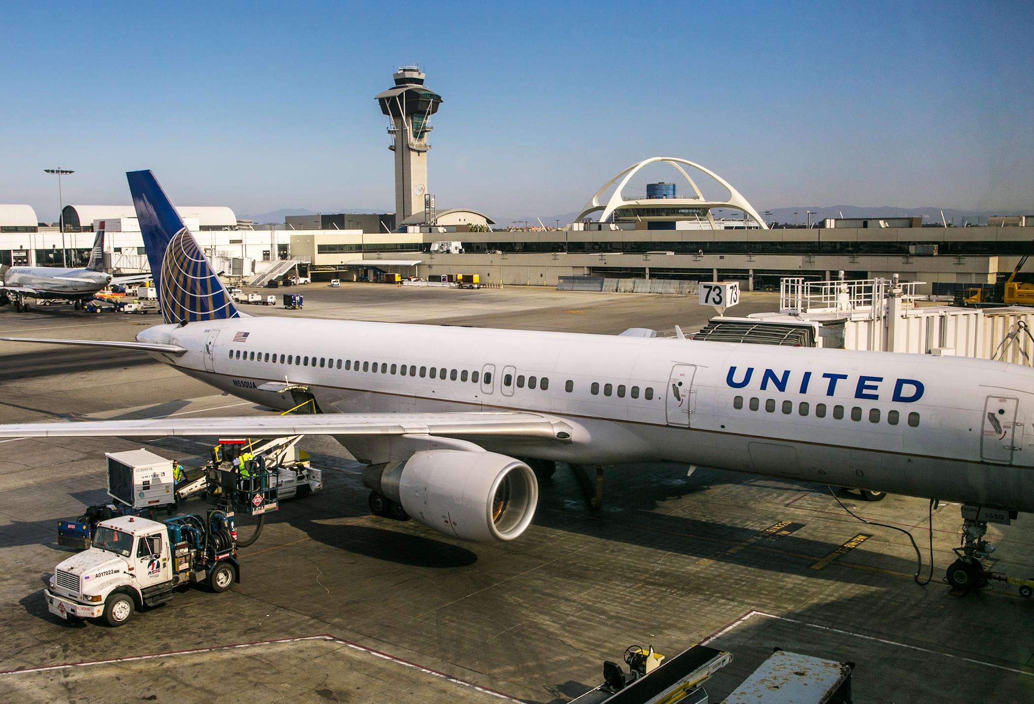 United Airways airplane on tarmac