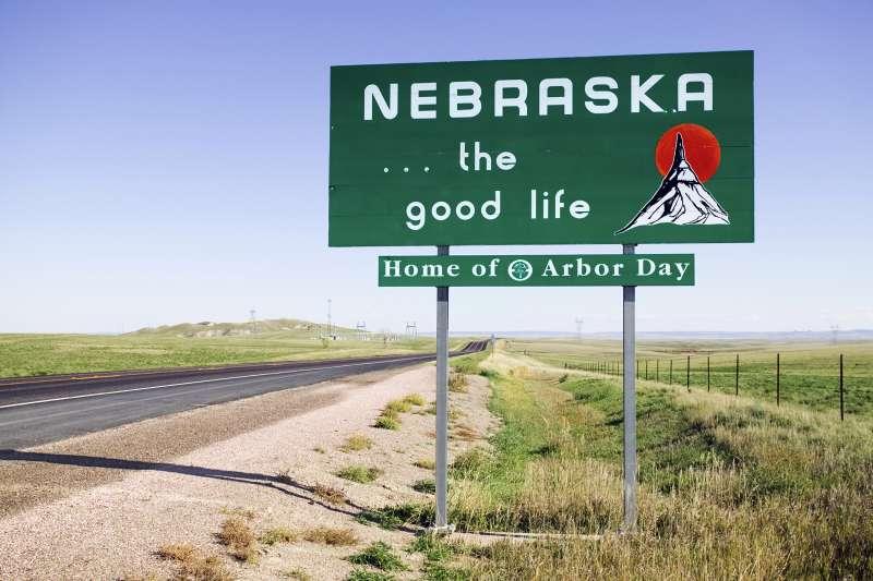 Welcome to Nebraska street sign