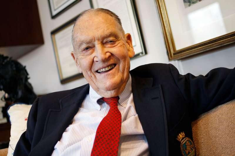 John C. Bogle, founder of Vanguard and president of its Bogle Financial Markets Research Center, in his office at Vanguard's headquarters in Malvern, Pennsylvania, Jan. 25, 2012.