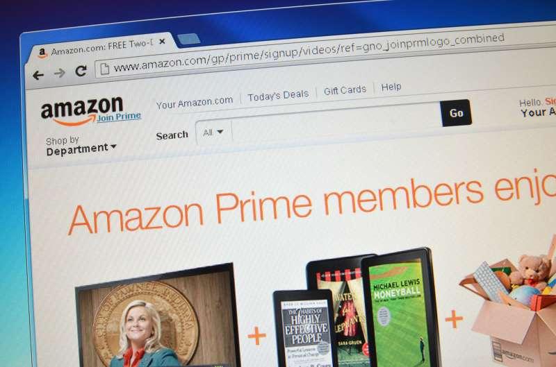 Amazon Prime website
