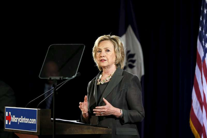 U.S. Democratic presidential candidate Hillary Clinton speaks during an event at the New York University Leonard N. Stern School of Business in New York July 24, 2015.