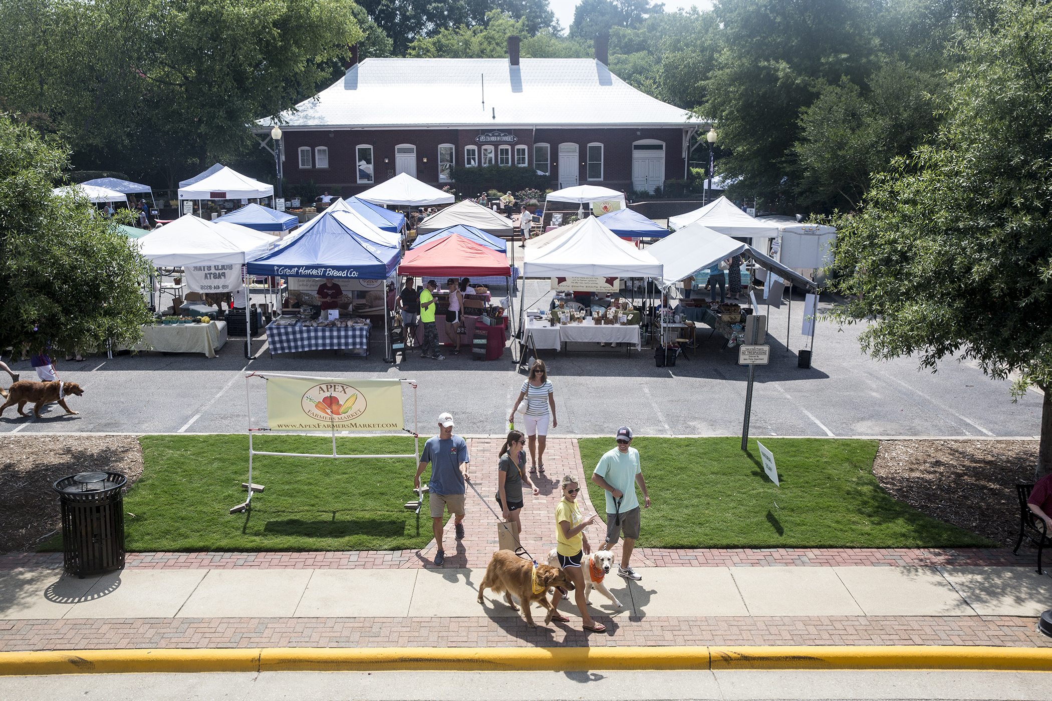 The Apex Farmers Market in downtown Apex, NC