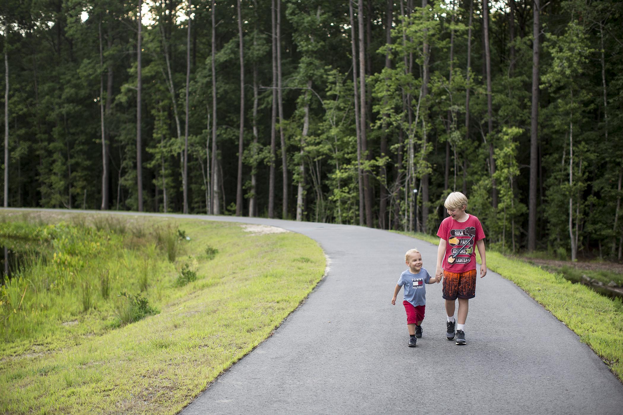 Residents enjoy taking walks around Nature Park in Apex, NC