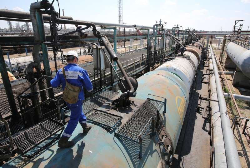 Operations Inside A KazMunaiGas National Co. Oil Refinery