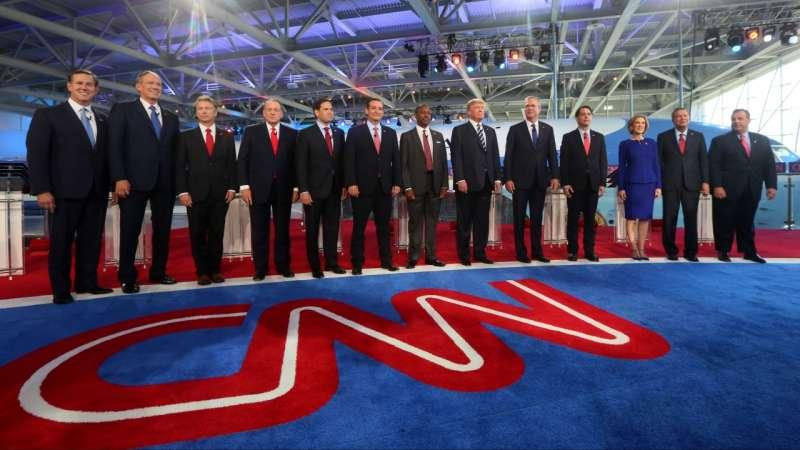 Republican presidential candidates, cnn debates