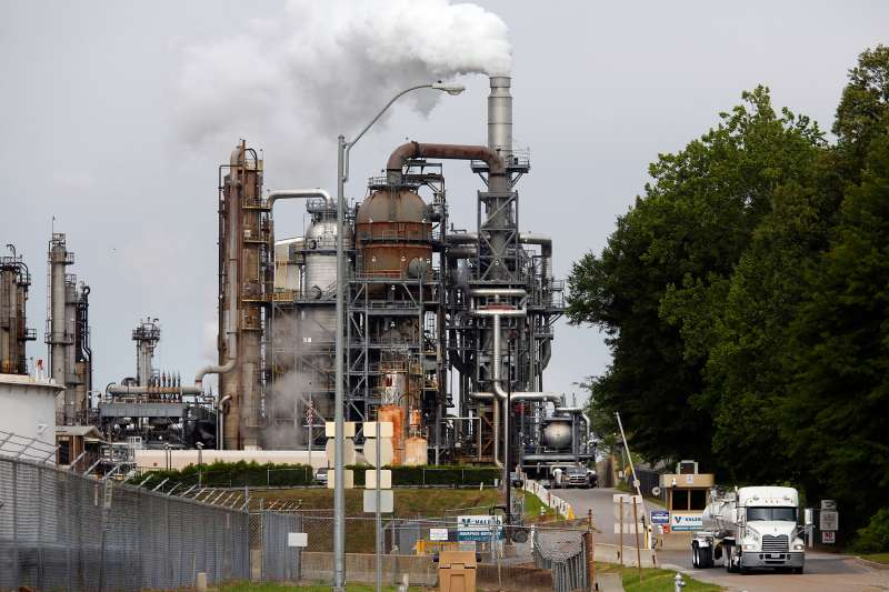 A Valero Energy Corp. oil refinery stands in Memphis, Tennessee, on April 27, 2015.