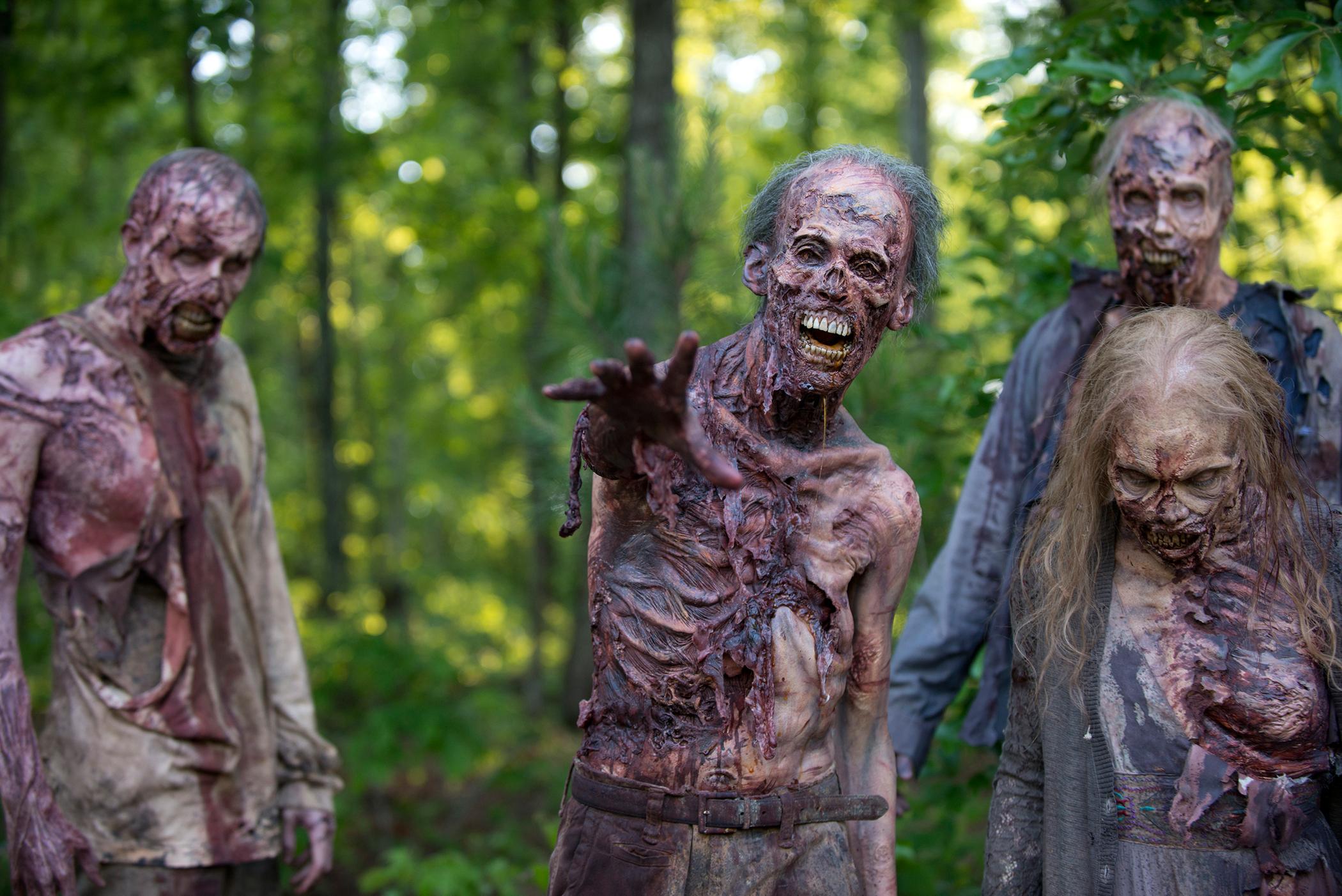 """Walkers in """"The Walking Dead"""" Season 6, Episode 1"""