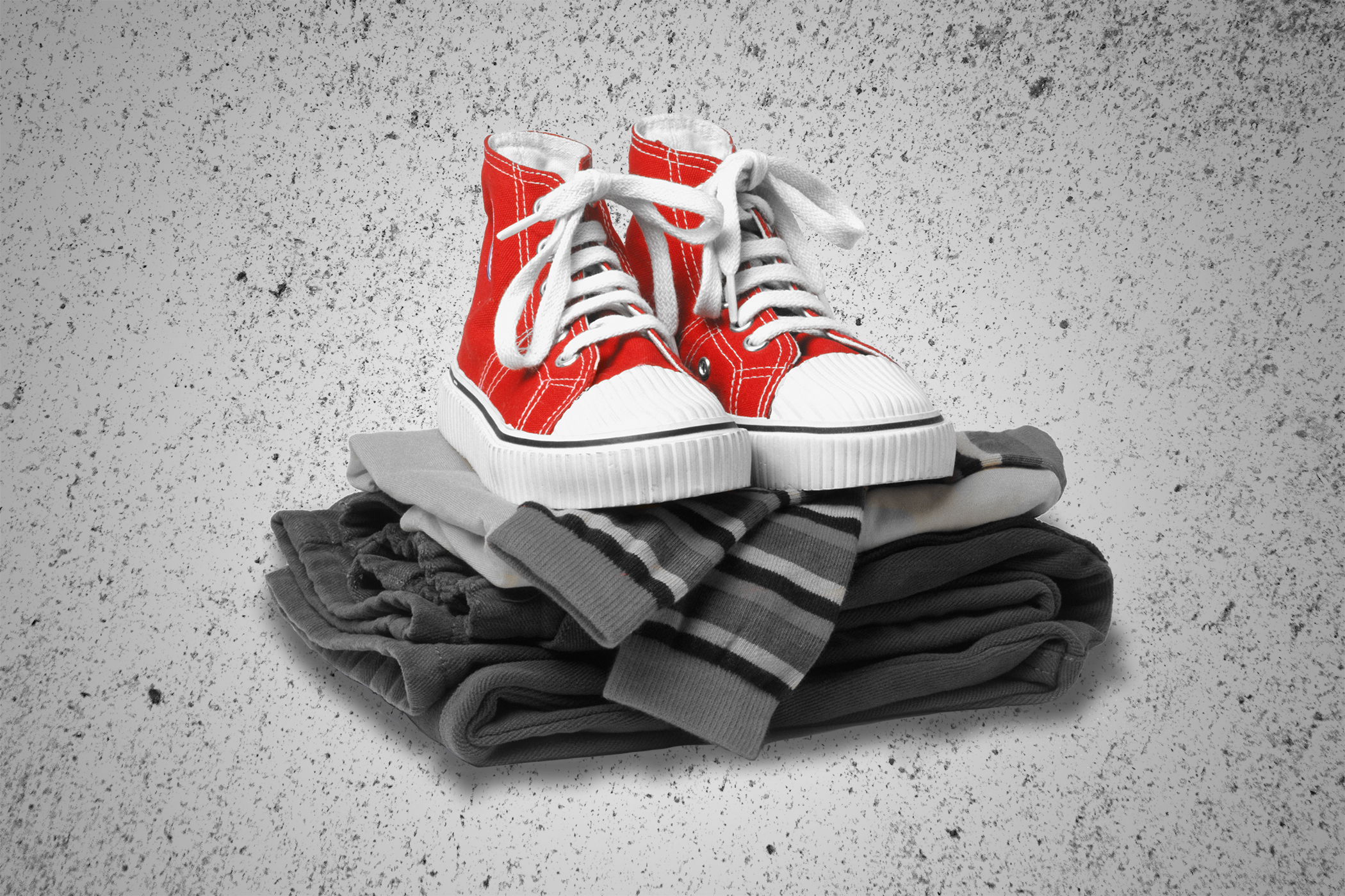 clothing with Converse sneakers