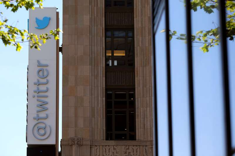 The Twitter logo at its headquarters on Market Street in San Francisco, California April 29, 2014.
