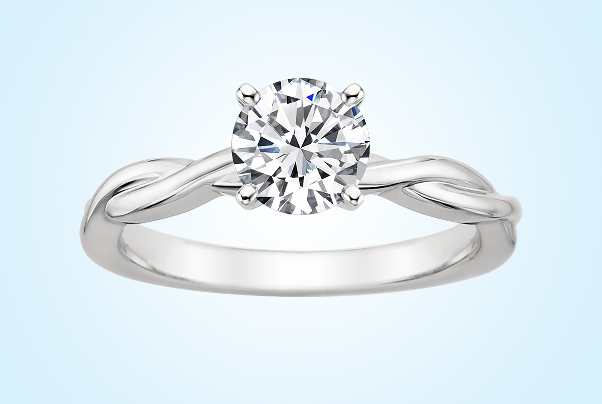 Lab Diamond Twisted Vine ring