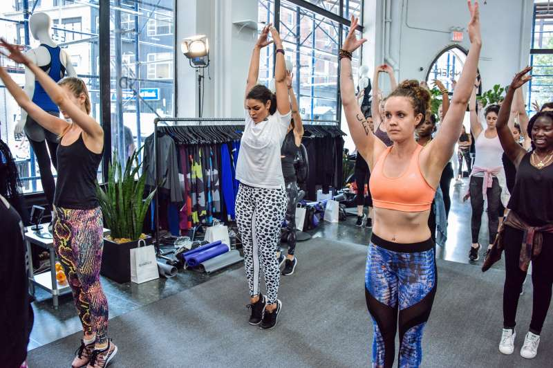 Jordin Sparks x BANDIER In Store Work Out