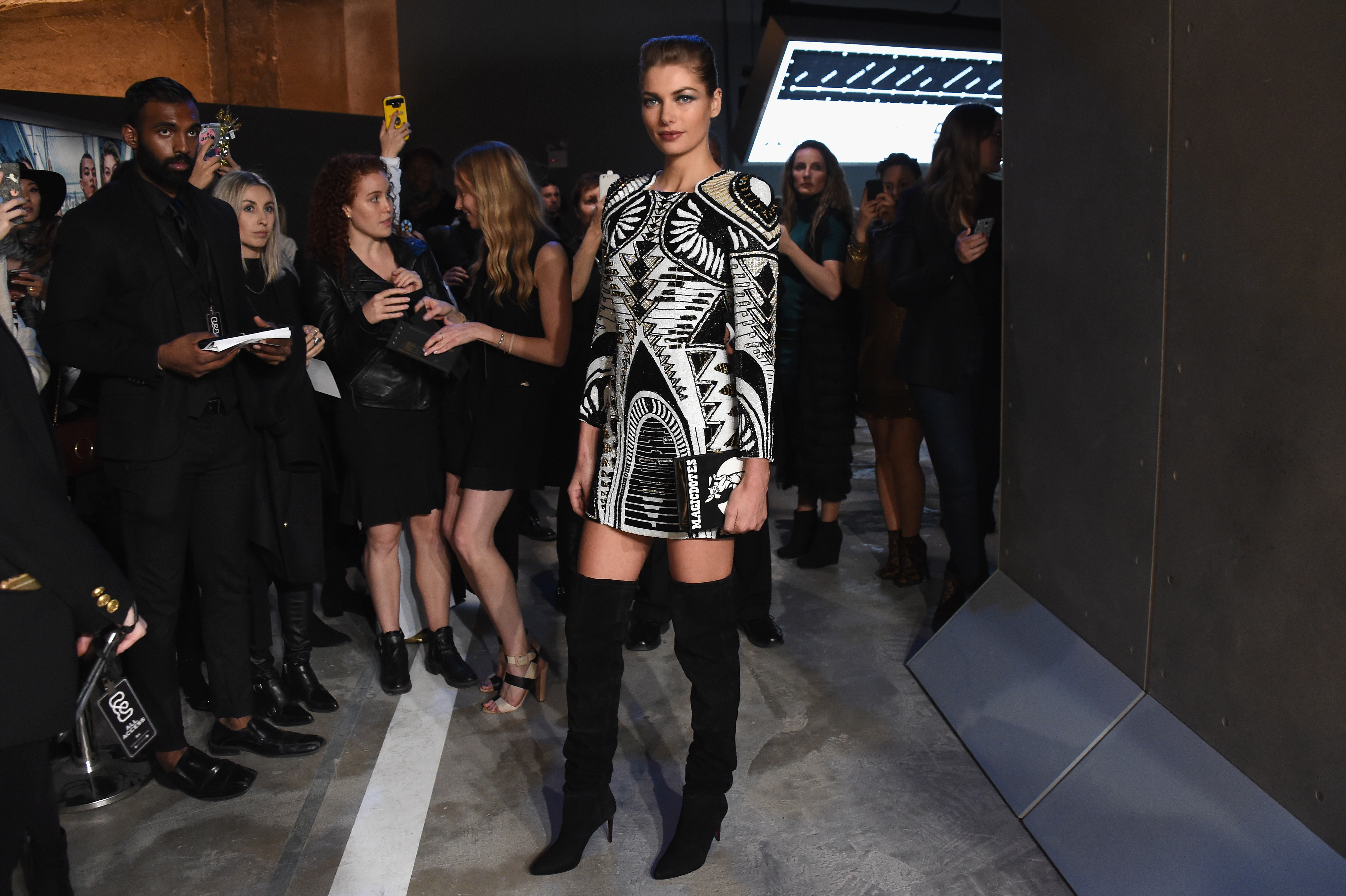attends the BALMAIN X H&M Collection Launch at 23 Wall Street on October 20, 2015 in New York City.