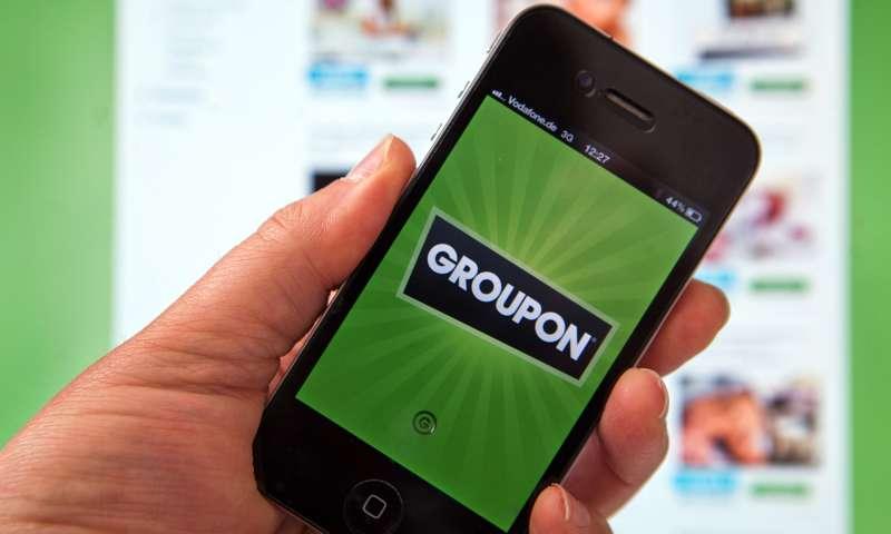 Groupon on phone