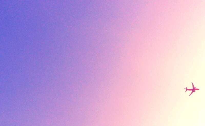 airplane-sunset-sky