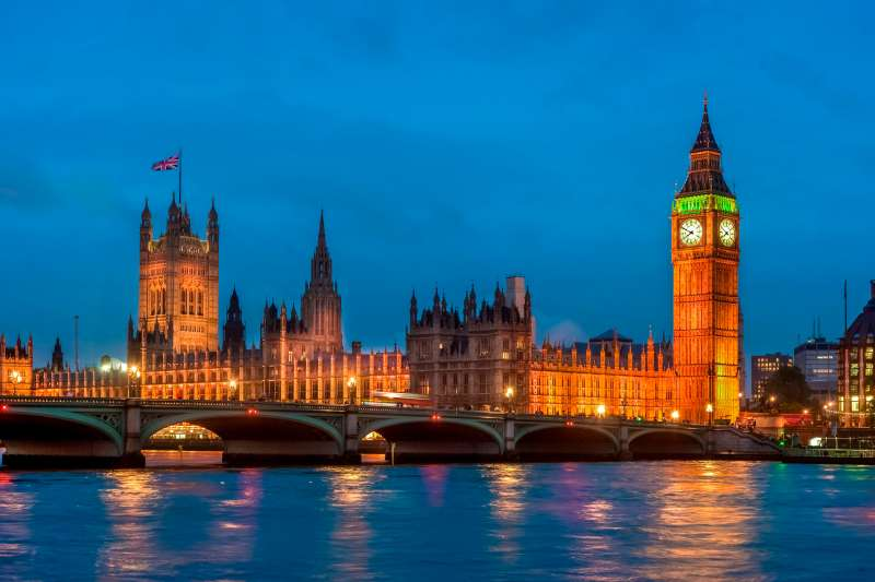 Houses of Parliament, Big Ben and Westminster bridge. London