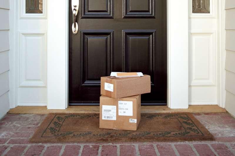 boxes on doorstep