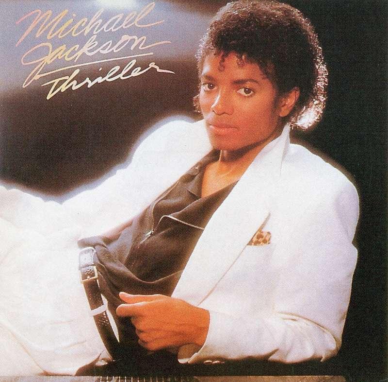 Michael Jackson Thriller album cover, 1982