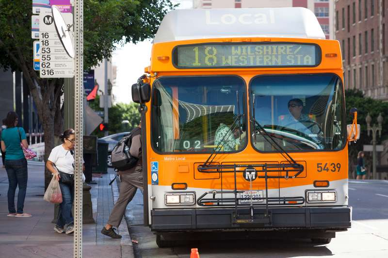 Public transportation in cities like Los Angeles is free on New Year's Eve.