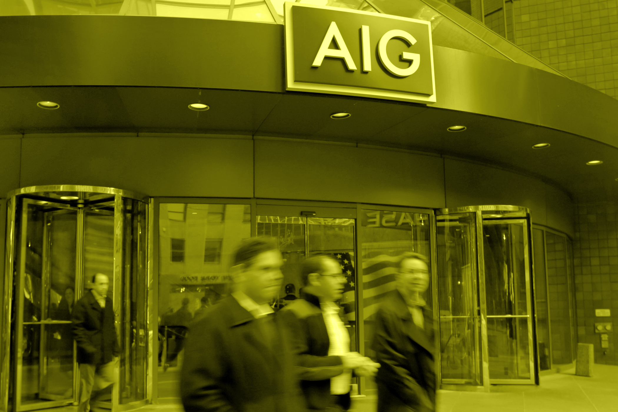 160106_PRO_AIGPeople pass the AIG building, in New York, January, 2013.