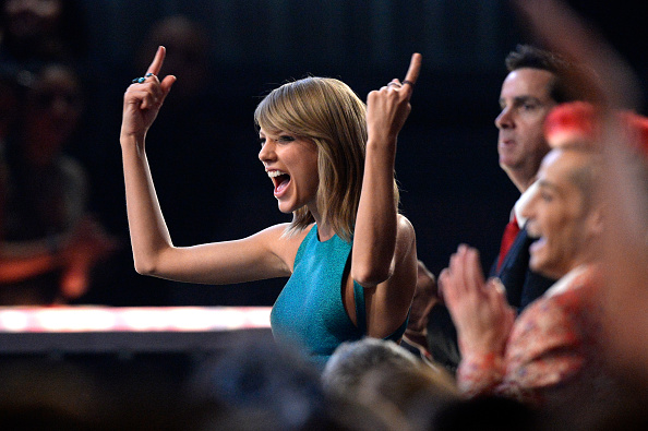 Taylor Swift at the 57th Annual Grammy Awards on February 8, 2015 in Los Angeles, California.
