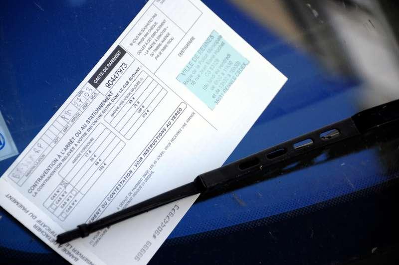 Parking Ticket Windshield