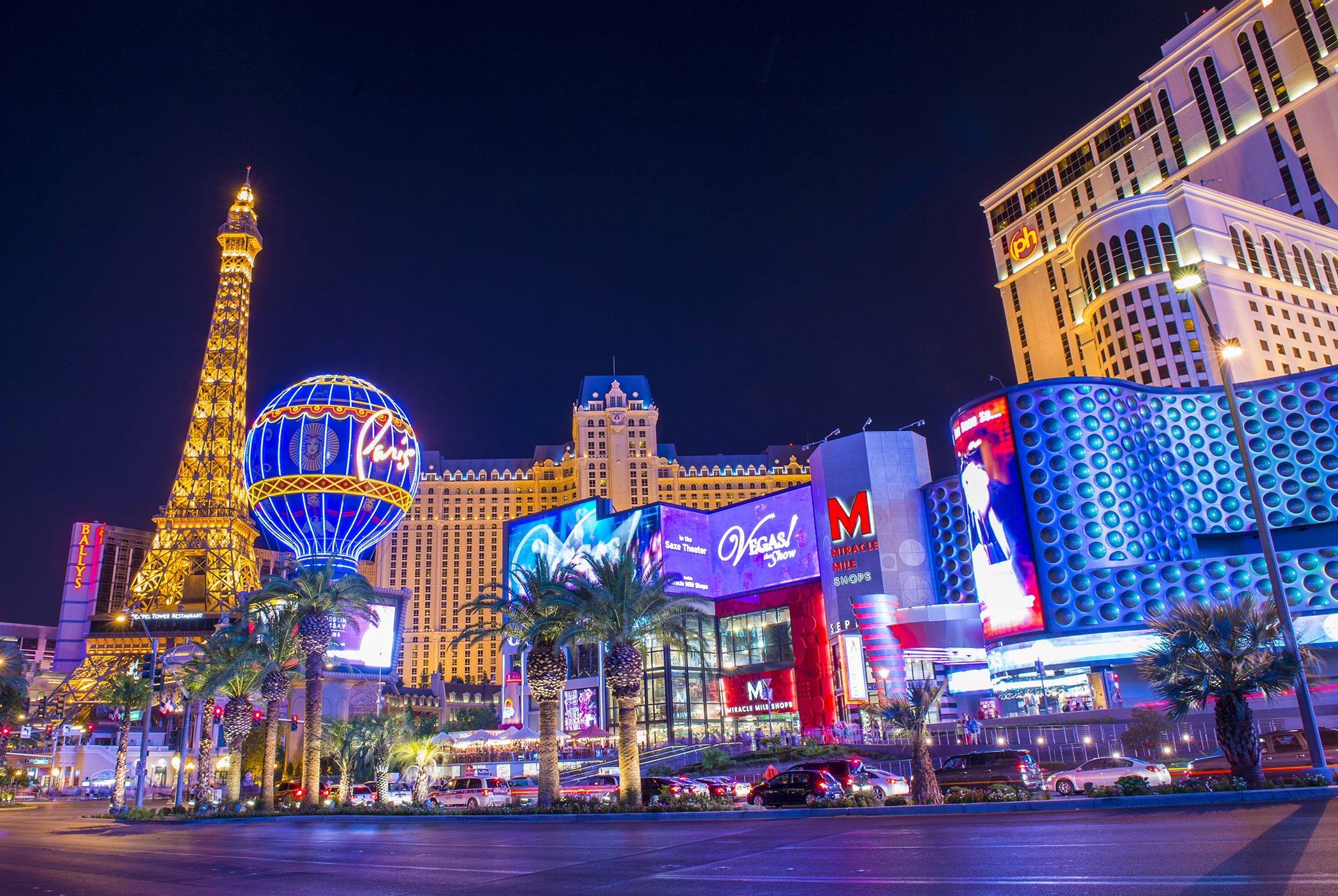 View of the strip on July 31, 2013 in Las Vegas.