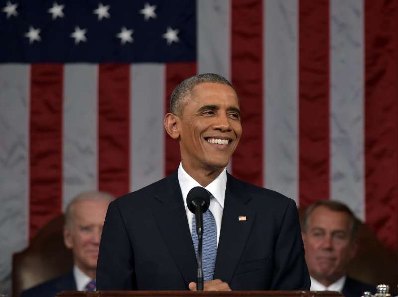 President Barack Obama delivers the State of the Union address on January 20, 2015, on Capitol Hill in Washington.