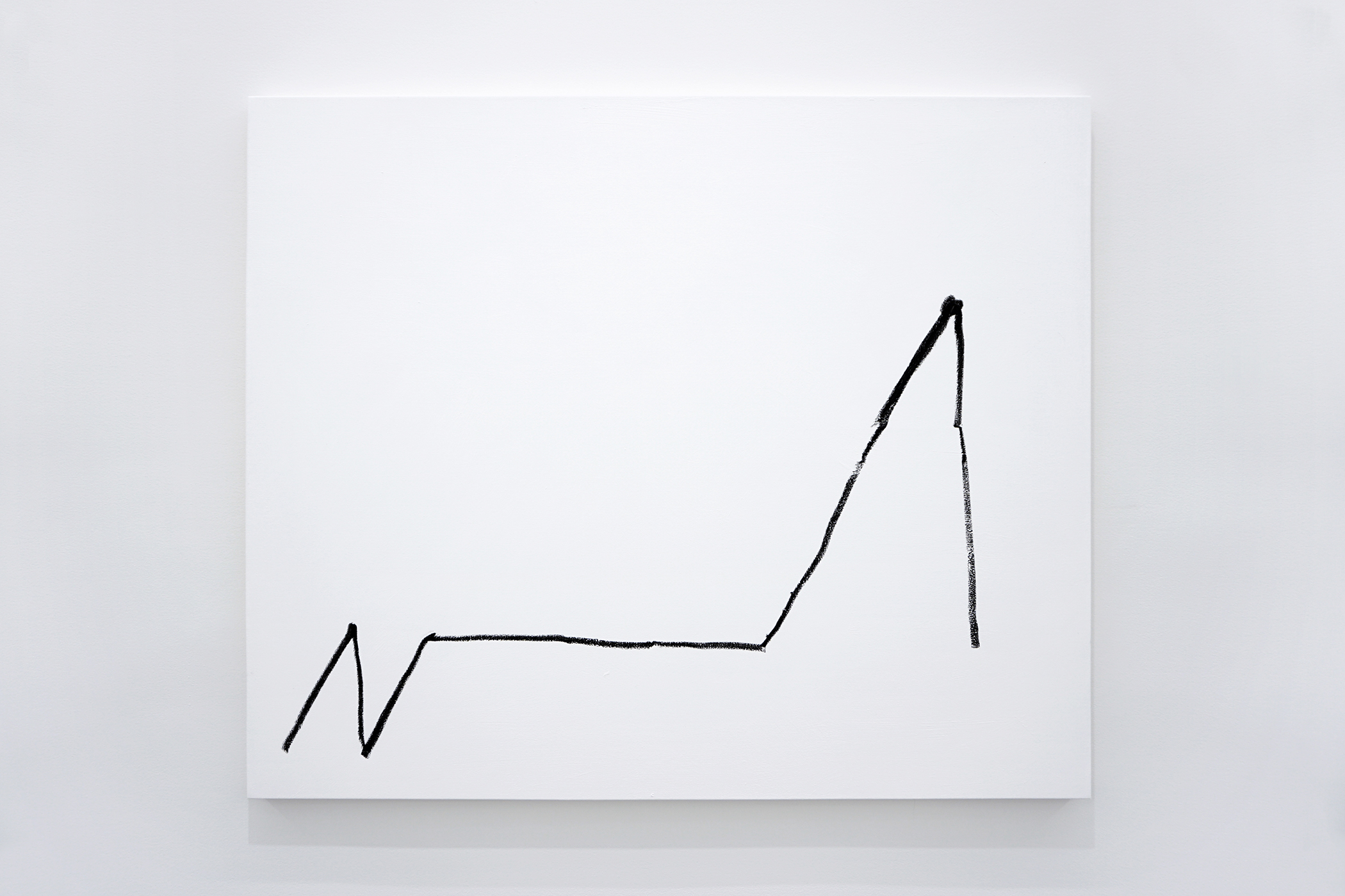 "Sarah Meyohas, ""NASB Financial Inc. on January 14, 2016,"" Oil stick on canvas, 50 x 60 inches."