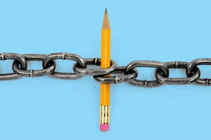 pencil in chain