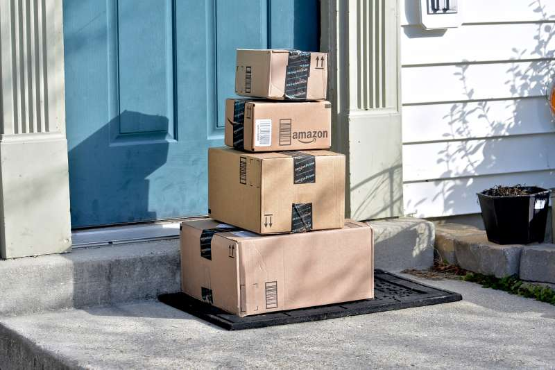 Amazon Prime packages on doorstep