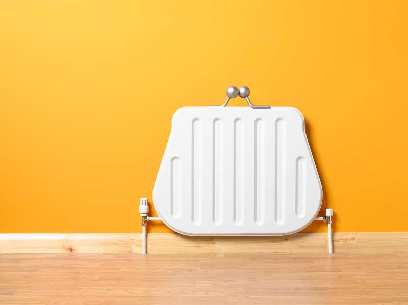 heater shaped like a coin purse