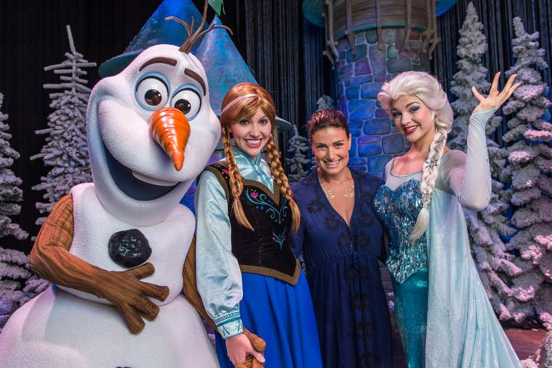 Idina Menzel Visits Walt Disney World