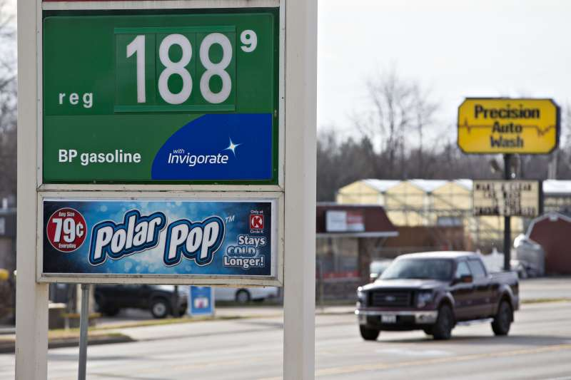 Gasoline Stations As Fuel Price Drops to Three-Year Low on Outlook for Balmy Christmas