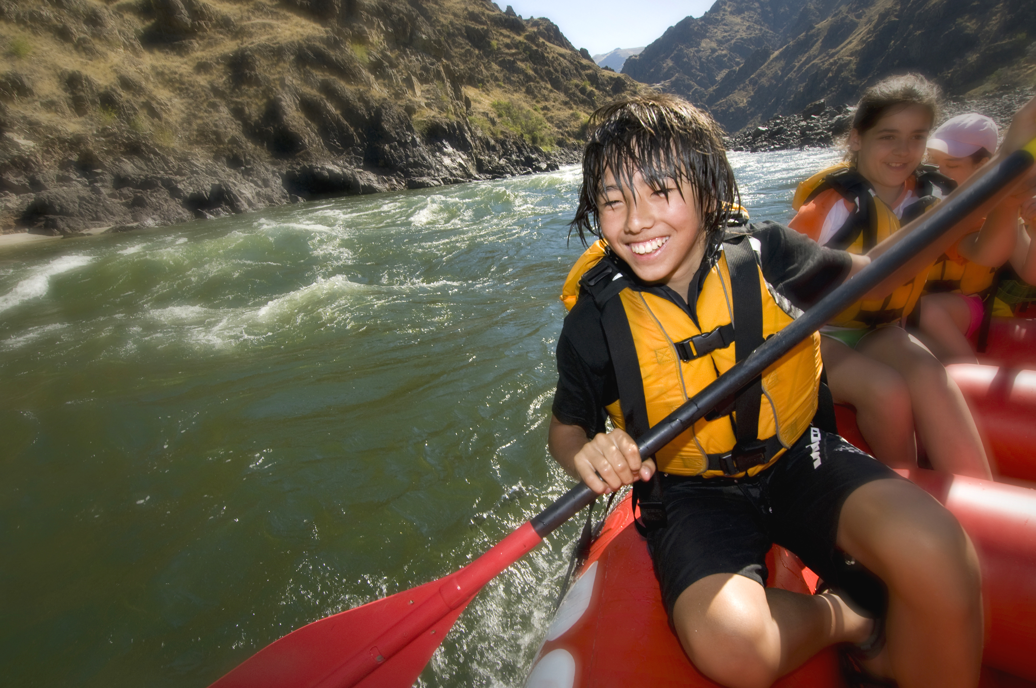 White-water rafting on the middle fork Salmon river