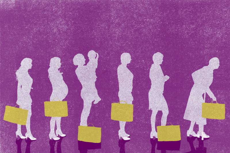 darwin illustration of working woman