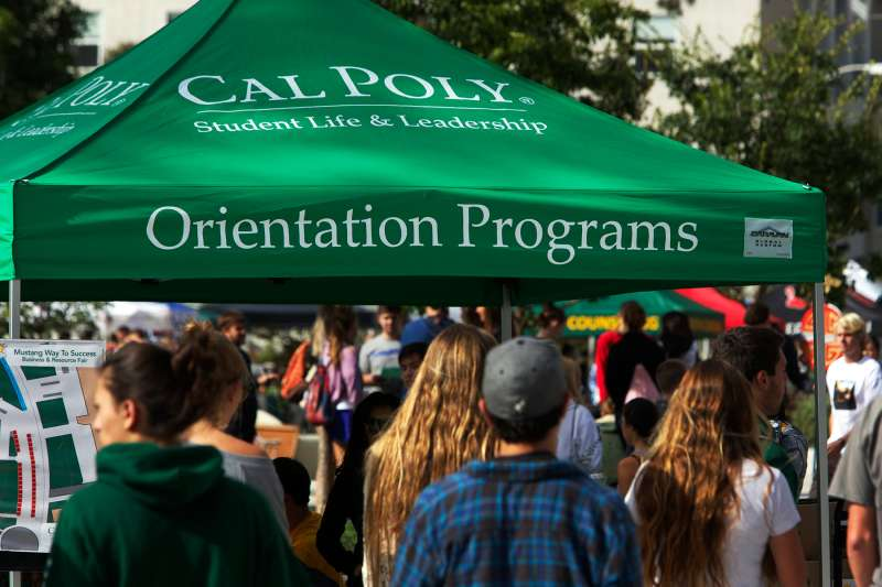 New student orientation at California Polytechnic State University San Luis Obispo in San Luis Obispo, Calif.