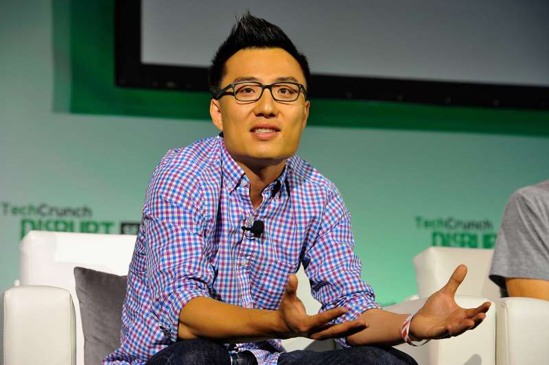 DoorDash Co-Founder and CEO Tony Xu speaks onstage at TechCrunch Disrupt at Pier 48 on September 10, 2014 in San Francisco, California.