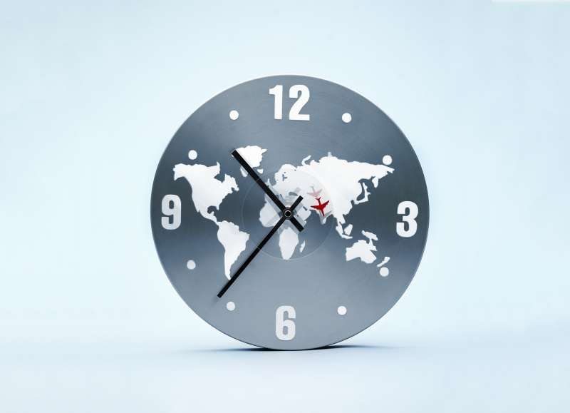 map on clock