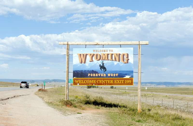 Welcome to Wyoming sign, Wyoming