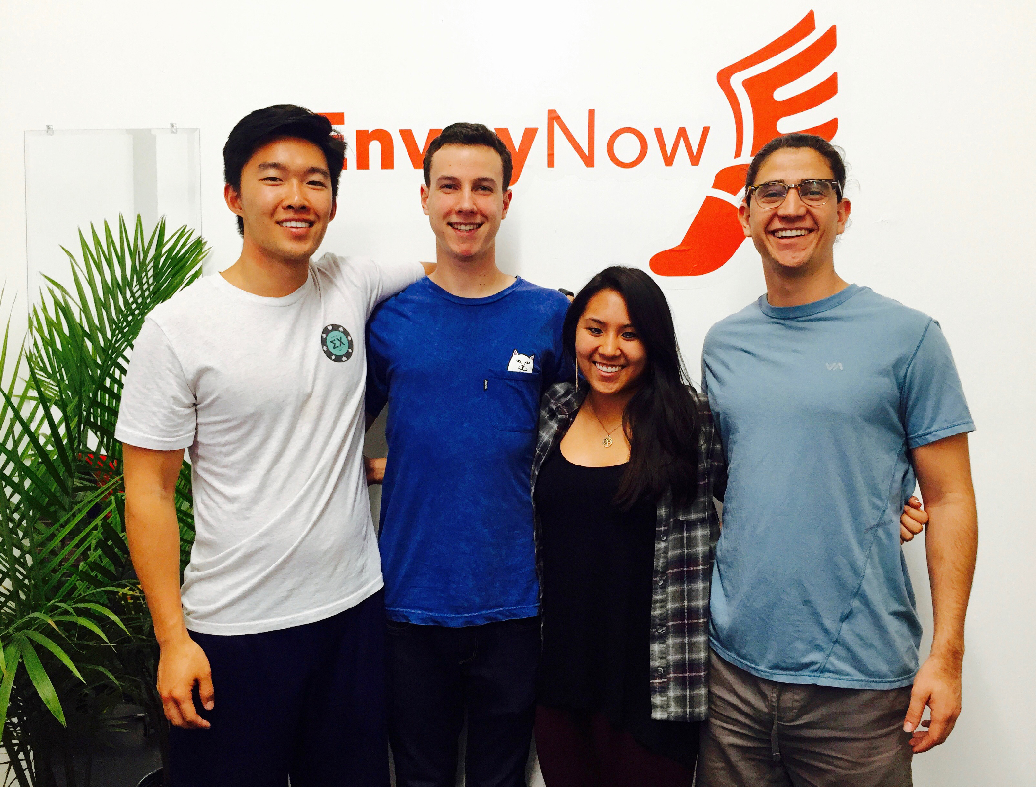 From left to right: Anthony Zhang (CEO), Parker Seagren (CTO), Kristi Hupka (EVP), Gabriel Quintela