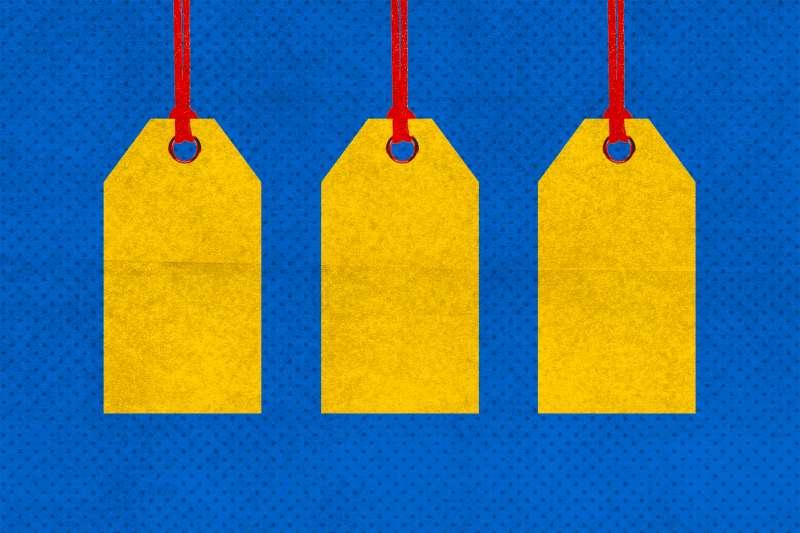 price tags hanging