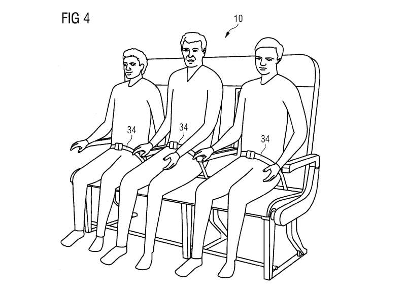 One configuration that Airbus's bench seat idea features three adults on one bench seat.