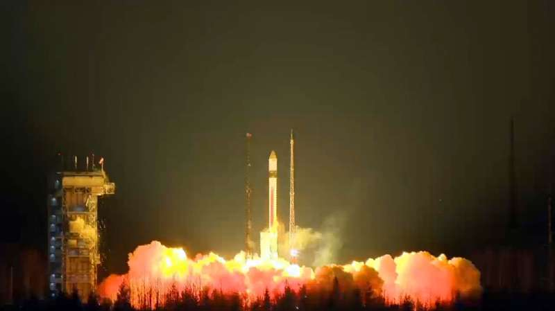 This video grab shows the Sentinel-3A – the first in the two-satellite Sentinel-3 mission – lifted off on a Rockot launcher from the Plesetsk Cosmodrome in northern Russia at 17:57 GMT (18:57 CET) on 16 February 2016. Carrying a suite of cutting-edge instruments, Sentinel-3 will measure systematically Earth's oceans, land, ice and atmosphere to monitor and understand large-scale global dynamics. It will provide essential information in near-real time for ocean and weather forecasting. The mission is based on a two identical satellites orbiting in constellation for optimum global coverage and data delivery. For example, with a swath width of 1270 km, the ocean and land colour instrument will provide global coverage every two days --