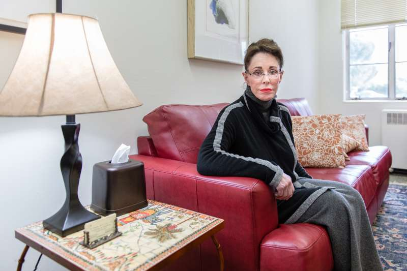Mary Julia Klimenko, 69, in her office in Benicia, Calif., on Friday January 29, 2016. The therapist invested in a long-term care insurance policy, but her monthly premiums have nearly quadrupled over the past two years. Klimenko is furious with the choices she's been given: pay the higher cost, reduce her costs by cutting her policy's benefits, or drop the insurance altogether.