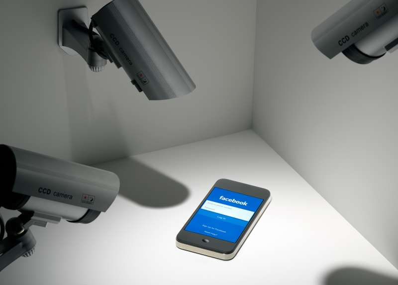 surveillance cameras pointed at phone