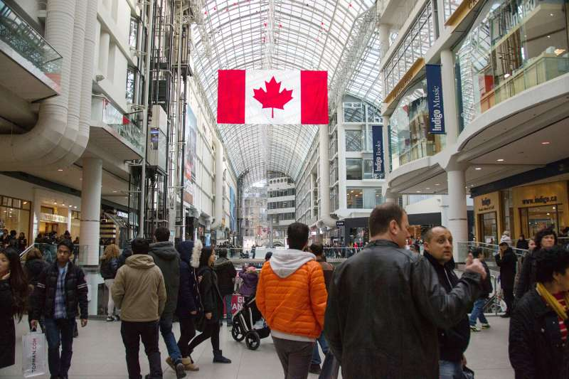 Toronto Eaton Center is shopping centre and office complex in downtown Toronto that provides store directories, special events, February 17, 2014.