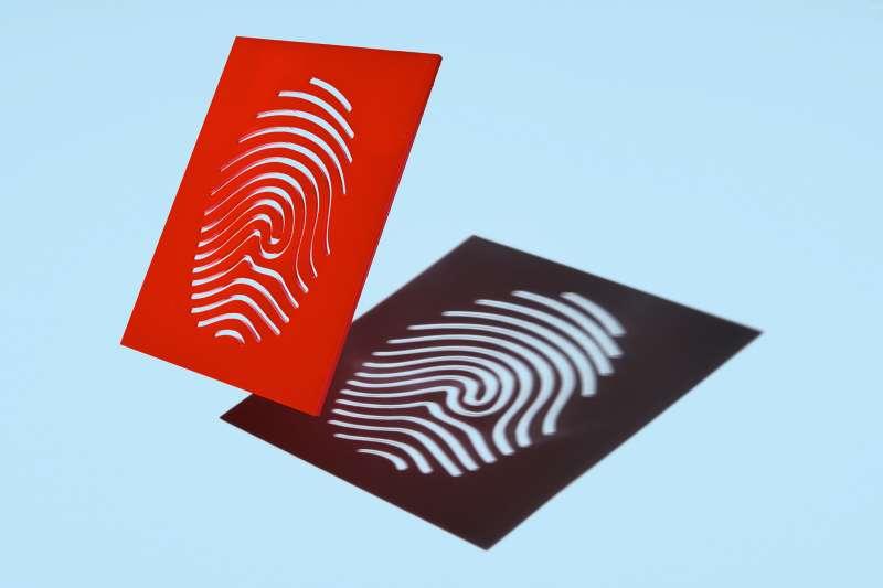 stencil finger print casting shadow