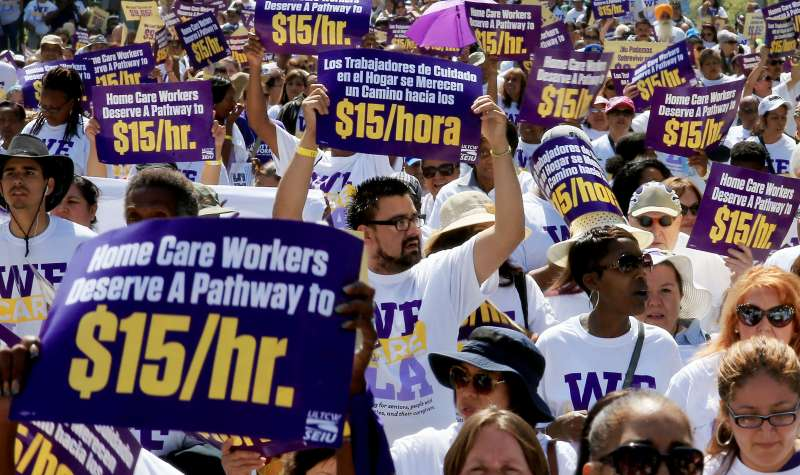 LA County Homecare Workers March For Better Wages